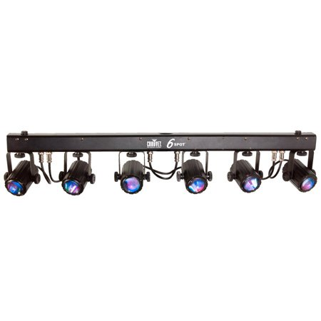 Chauvet 6SPOT Portable Spot Lighting Solution with High-Intensity Tri-Color LEDs