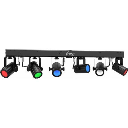 Chauvet 6SPOTRGBW 6SPOT RGBW Portable Spot Lighting Solution with High-Intensity Quad-Color LEDs
