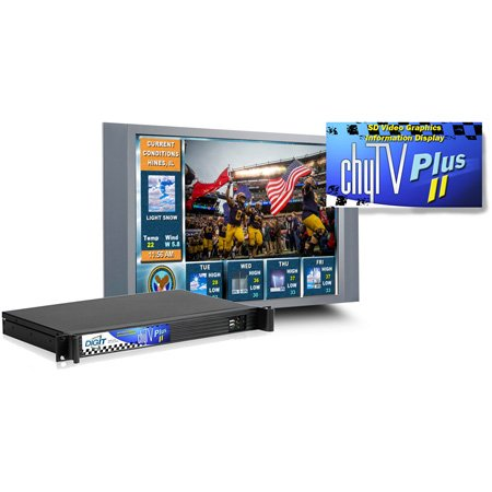Chyron ChyTV Plus II Dynamic Video Graphics Character & Logo Generator w/ Ethernet Port For Digital Signage & Messaging