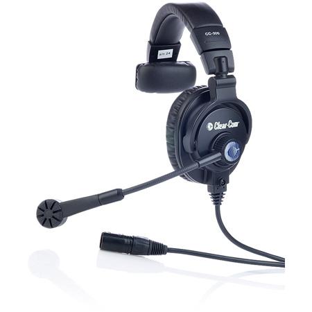 Clear-Com CC-300-Y5 Single Enclosed Ear Headset -  XLR Female 5-pin