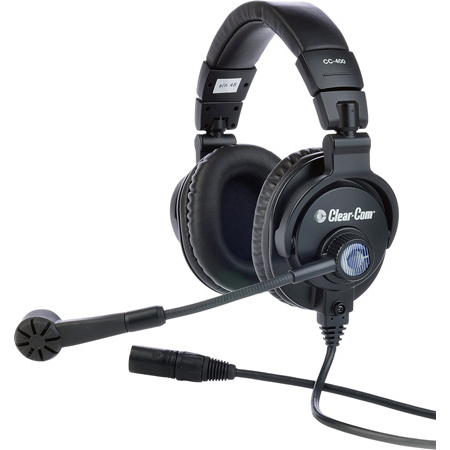 Clear-Com CC-400-X4 Double-Ear Headset with 4-pin Female XLR