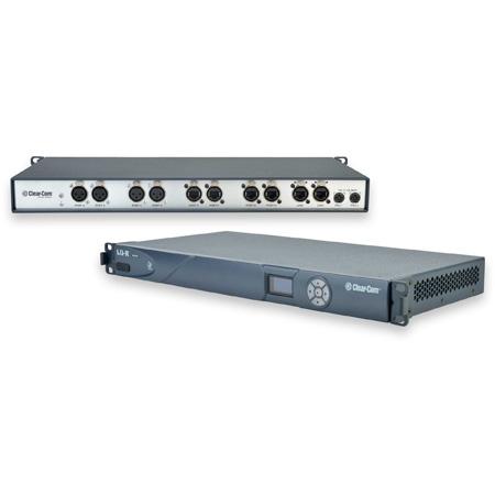 Clear-Com LQ-R2W4-4W4 1RU 8 Port Intercom over IP Interface Panel