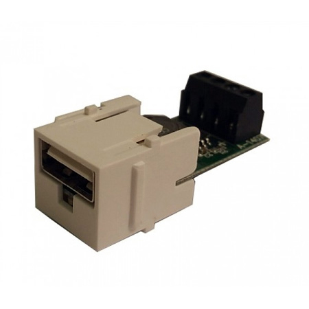 Calrad 72-501 Keystone Insert - USB Type A Low Voltage Charging System Powered Over UTP Cable