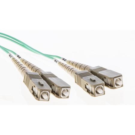Cleerline 3DOM3SCSC02M SC/UPC-SC/UPC-3mm Riser-OM3-2m Fiber Cable