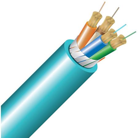 Cleerline 4B50125OM3R 4 Strand 50/125 SSF-S I/O Fiber Cable 1000 foot