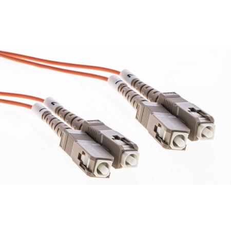 Cleerline DOM2SCSC01M SC/UPC-SC/UPC-1.6mm Riser-OM2-1m Fiber Cable