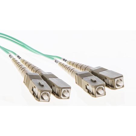 Cleerline DOM4SCSC01M SC/UPC-SC/UPC-1.6mm Riser-OM4-1m Fiber Cable