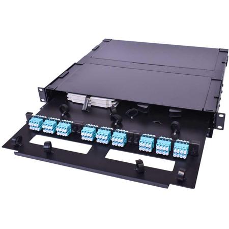 Cleerline SSF-1RU-E3 1 RU 3 Termination Panel Rack Mount Fiber Distribution Unit