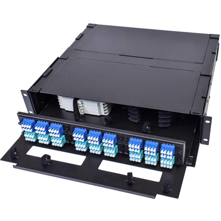 Cleerline SSF-2RU-E6 2 RU 6 Termination Panel Rack Mount Fiber Distribution Unit