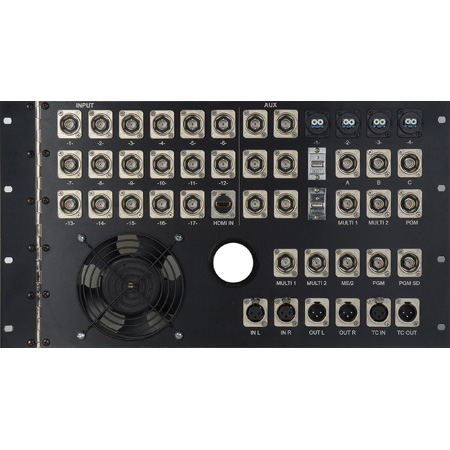 Hinged and Air Cooled 6RU Custom Rack Panel