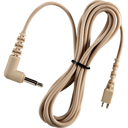 Telethin Announcer Earset Cable with Right Angle 3.5mm Mini Connector  - 5 Foot