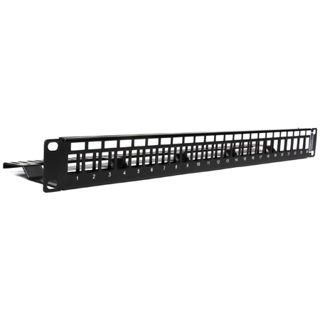 Camplex CMX-KP-1001 Keystone Patch Panel -  Blank 1U/1RU 24-Port with Cable Manager