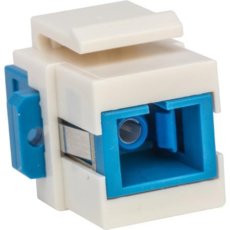 Camplex CMX-KP-3003 Keystone Coupler - Fiber Optic SC to SC Simplex Single Mode-Blue and White