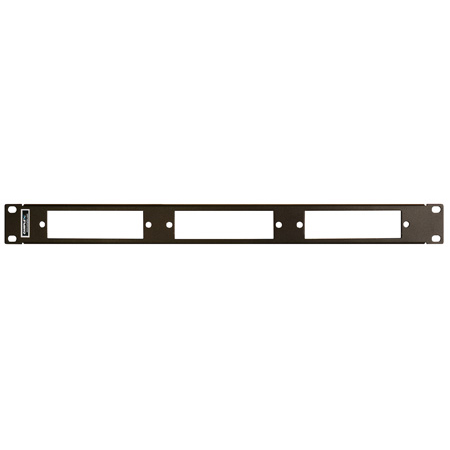 Camplex CMX-MPR-1RUP 1RU LGX 19-Inch Rack Mount Panel up to 3 Fiber Adapter Modules
