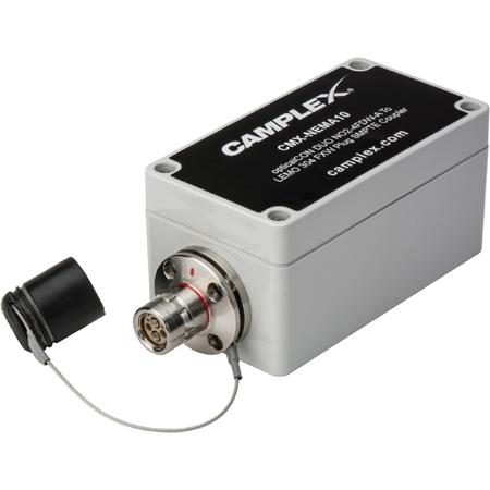 Camplex OpticalCON DUO NO2-4FDW-A To LEMO FXW SMPTE Hybrid Adapter Box w/ Power