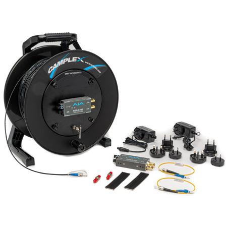 Camplex TACNGO-FIDO 12G-SDI Video Tactical Fiber Optic Cable Reel Extender System - 1000 Foot