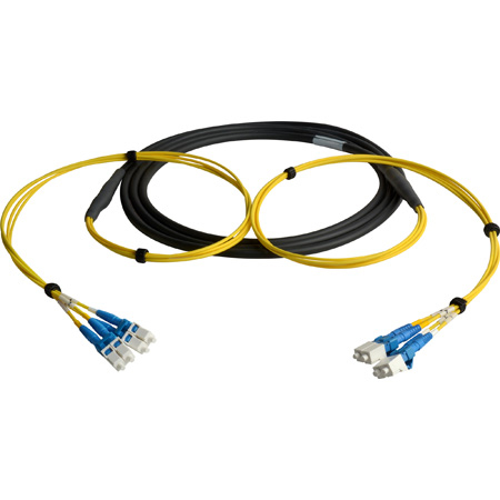Camplex CMX-TS04LC-0100 4-Channel LC Single Mode Fiber Optic Tactical Snake 100 Foot