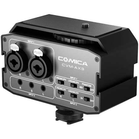 Comica CVM-AX3 Dual-Channel XLR Audio Mixer with Preamp