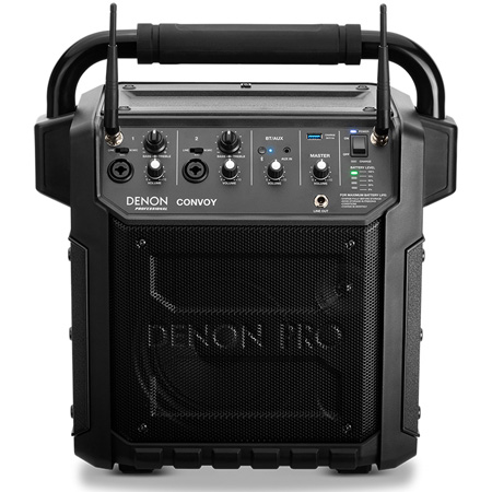 Denon Professional CONVOY Mobile PA with 2 UHF Wireless Handheld Microphones and Bluetooth
