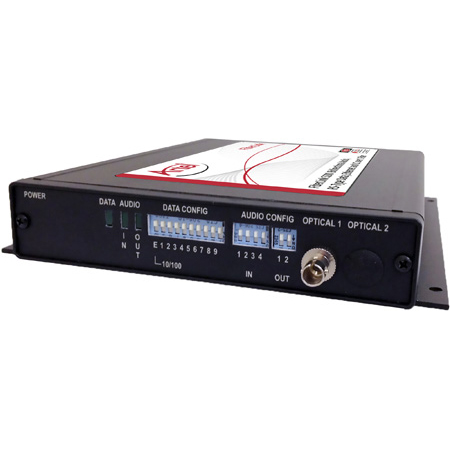 Artel FiberLink 5200-B3S Multimode Bidirectional Audio/ Ethernet/ Data & CC Box with ST Connectors - Transmitter