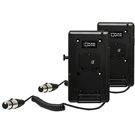 Core SumoV Double V-Mount Kit with Coiled Powertap to XLR 4-Pin for Atomos Sumo