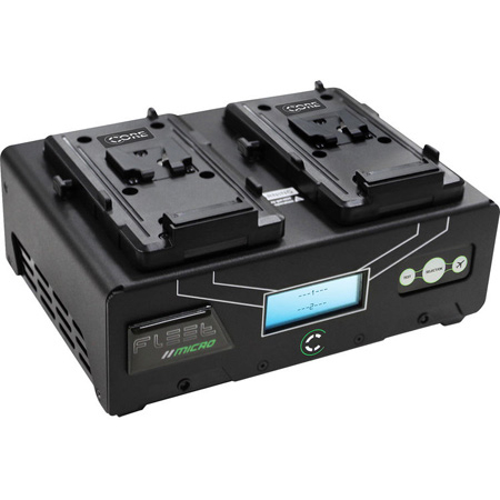 Core SWX FLEET-DM25 Digital 2 Position V-Mount Simultaneous Charger with TEST & SafeFly Modes