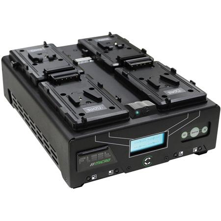 Core SWX FLEET-Q4MSI Four Position V-Mount Fast Simultaneous Li-Ion Charger with Voltbridge Bluetooth Technology