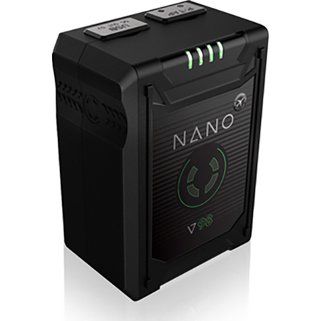 Core SWX NANO-V98 98wh Micro Sized V-Mount SMART Lithium Ion Battery Pack / 14.8v / 6.6Ah / 10A Draw with 4 LED Gauge
