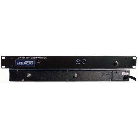 Cabletronix CTA-30RK-1000 Rack Mountable Commercial Distribution Amplifier - 30 dB Gain Forward - 1000 MHz Freq. Range