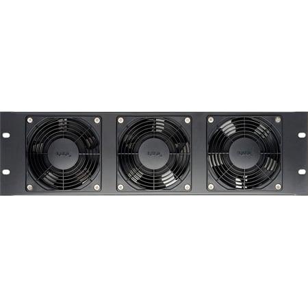 CT-FANRK-B Triple Rackmount Fan with Reversible Assembly 120VAC - Black - Plastic