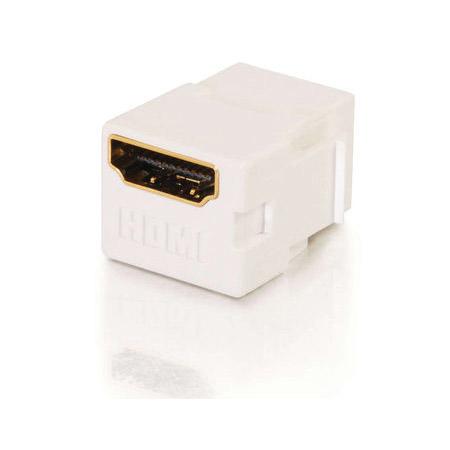 Snap-In HDMI F/F Keystone Insert Module - White