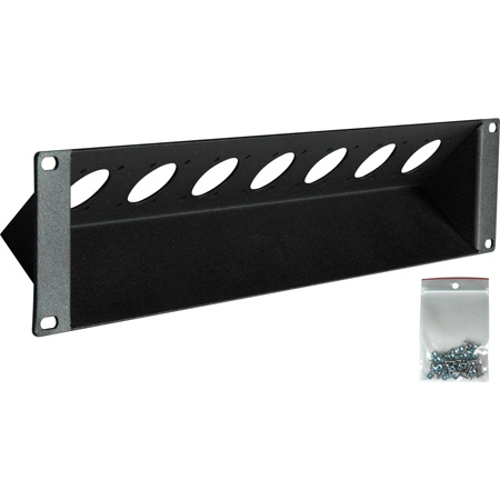 Connectronics CTX-RPTX2 45 Degree 7 Port 2RU Triax Connector Rack Panel for Canare & Kings Connectors