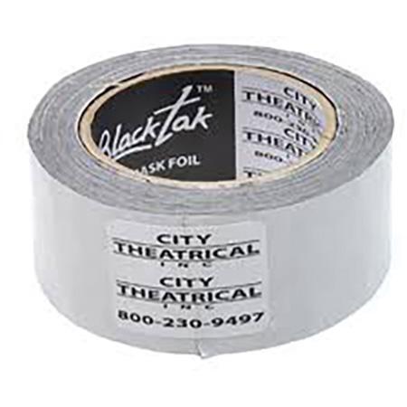 City Theatrical 3600 Blacktak 2 Inch x 75 Foot (50mm x 22.86m) Light Masking Foil Tape