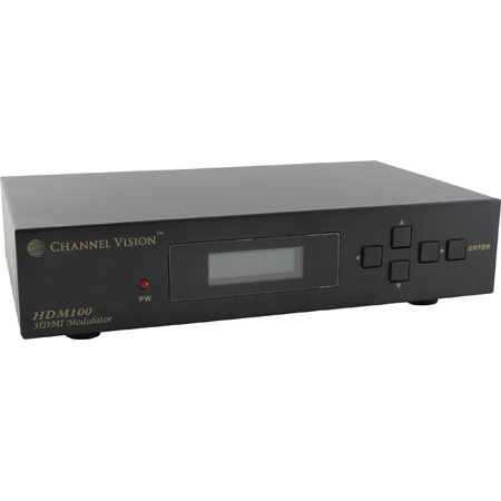 Channel Vision HDM100 1080P HDMI Input Modulator with IR Control - TV Channel Selectable
