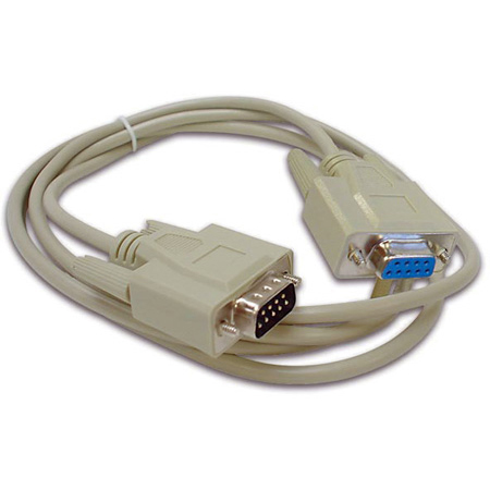 Serial Cable SUBD9 Male - SUBD9 Female / 2m (6.6 Feet)