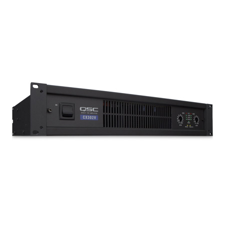 QSC CX302V 2 Channel Powered Amplifier 200 Watt 70 Volt Output