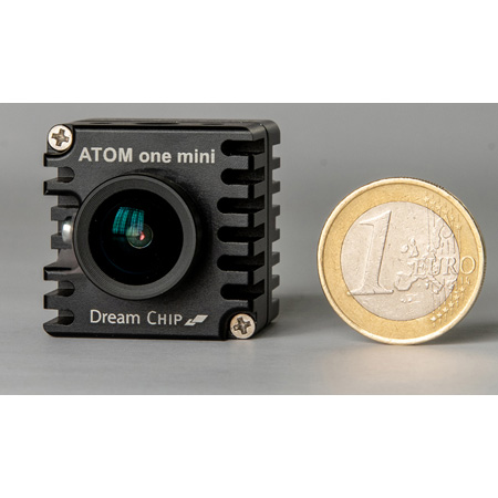Dream Chip DC-001-00018 Atom One Mini Full HD Rolling Shutter Camera with S-Mount 3.4mm Lens and RS485
