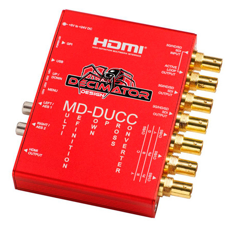 Decimator MD-DUCC Multi-Definition Down Up Cross Converter 3G/HD/SD-SDI & HDMI/Analog Video