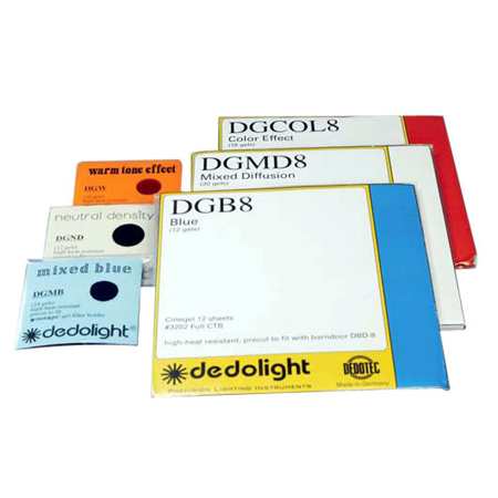 Dedolight Gels - Full Blue/Half Blue/Quarter Blue/Eigth Blue- 24pk