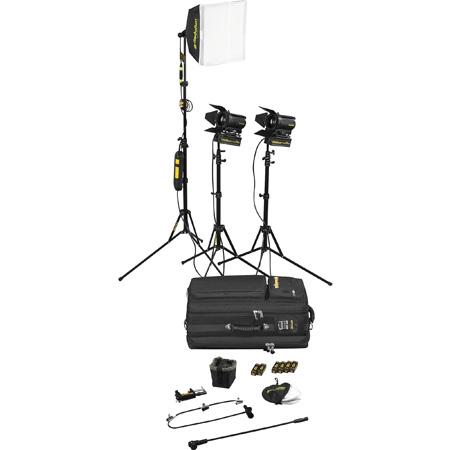Dedolight SPS3-E Portable Studio 3-Light Tungsten Lighting Kit - 230V AC (European)