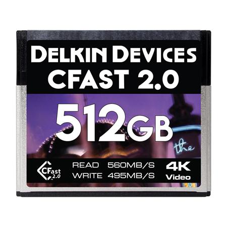Delkin DDCFST560512 CFast 2.0 Memory Card 590/495 - 512Gb