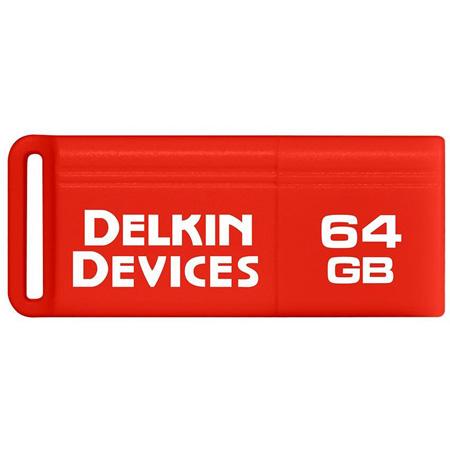 Delkin DDUSB3-64GB PocketFlash USB 3.0 Flash Drive - 120/15 Read/Write - 64GB