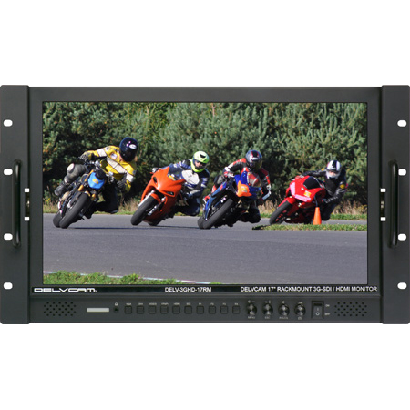 Delvcam DELV-3GHD-17RM 17.3-Inch High Resolution 3G-SDI - HDMI Rackmount LCD Monitor