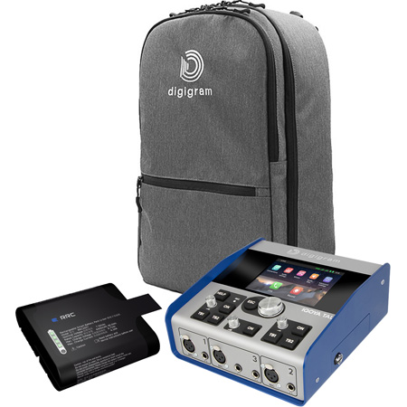 Digigram IQOYA TALK Portable Codec Mobile Kit with LCD Touchscreen - Extra Battery and Backpack Carry Case