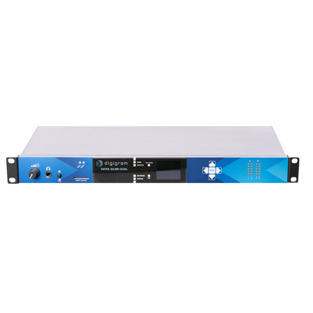 Digigram IQOYA X/LINK DUAL 1U Dual Stereo IP Audio Codec for STL or SSL Apps.- 4x I/O Ch/4x Mono Analog/2x Stereo