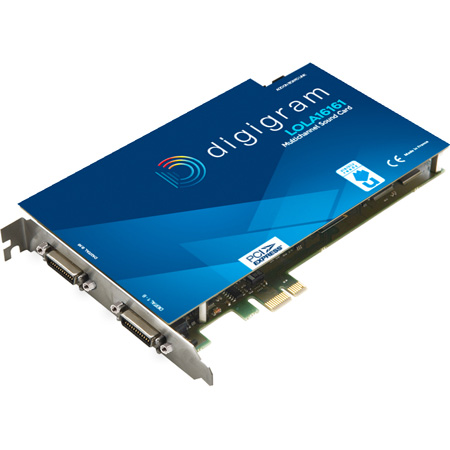 Digigram LOLA16161-SRC Multi-channel Sound Card with SRC with 8x Stereo AES/EBU I/O with Word Clock I/O