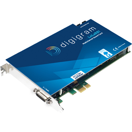 Digigram LOLA881 Multi-channel Sound Card with 4x Stereo AES/EBU I/O with Word Clock