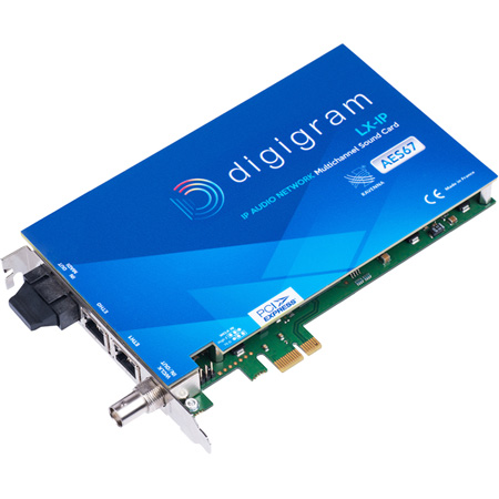 Digigram LX-IP Synchronous AoIP & MADI Multichannel Sound Card