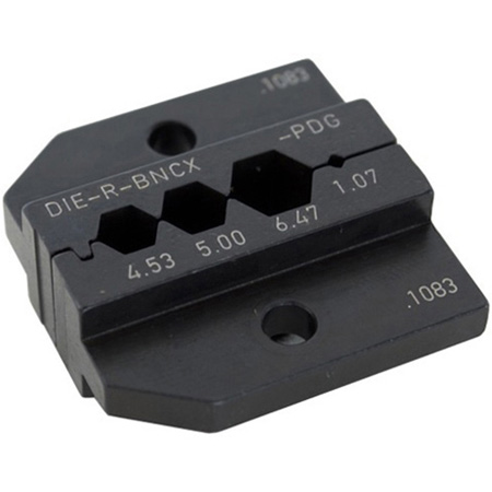 Neutrik DIE-R-BNCX-PDG Crimp Tool Die for HX-R-BNC with Hex Crimp Size: A (4.53mm) B (5.00mm) C (6.47mm) CP (1.07mm)