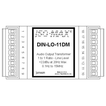 Jensen DIN-LO-11DM 600 to 600 1:1 Line Output Module